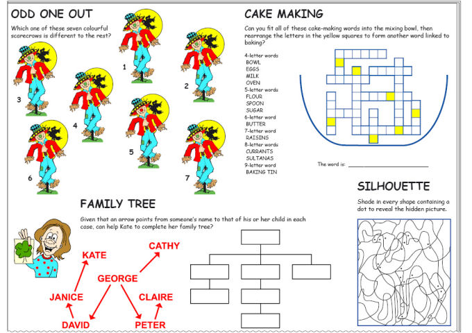 Children's puzzle page 89Kb