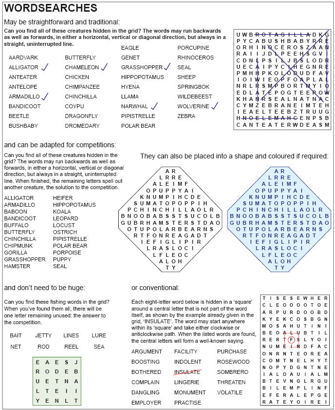Wordsearch Examples 170Kb
